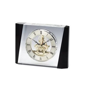 Personalized Free Engraving Crystal Trophy Desk Clock
