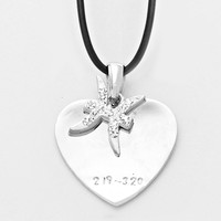 Zodiac Sign Crystal Necklace Pisces