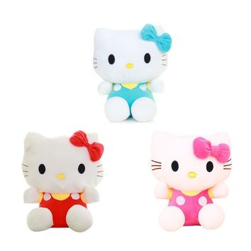 """1pcs 8"""" 20CM  Hello Kitty Cats, plush toys for children kids baby toy,lively lovely doll hello kitty toy (3color for choice)"""
