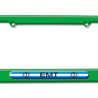 Thin White Line - EMT Star of Life License Plate Frame