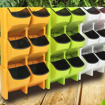 Plastic Planter Flower Pot Wall Hanging Garden