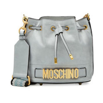 Logo Leather Drawstring Bag - Moschino | WOMEN | US STYLEBOP.COM