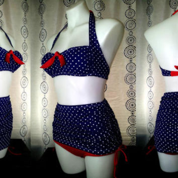 Lola  Top and High Waist Tummy Control bottoms with Attached Swim Skirt prints