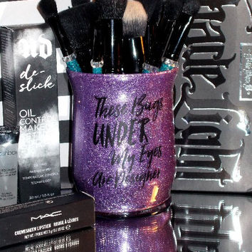 Designer Bags Under Eyes Makeup Brush Holder - YOU CUSTOMIZE!