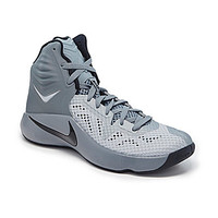 Nike Men's Zoom Hyperfuse Basketball Shoes - Cool Grey/Wolf Grey/Black