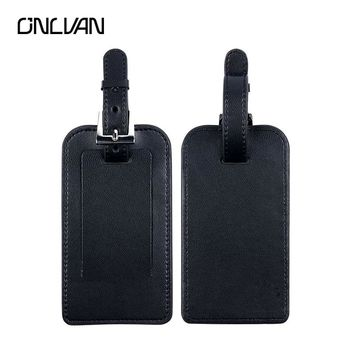 ONLVAN Luggage Tags Leather for Business Suitcase Colour Tags Name Holder Label ID Tags Factory OEM Travel Accessories