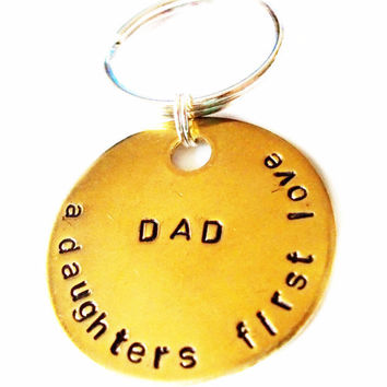 Personalized Keychain, Custom Keychain, Key ring, Fathers Day, New Daddy, Father daughter, Gift Ideas, For Him