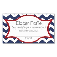 Baby Shower Diaper Raffle Tickets Insert Double-Sided Standard Business Cards (Pack Of 100)