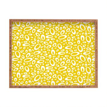 Heather Dutton Molecular Yellow Rectangular Tray