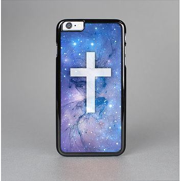 The Vector White Cross v2 over Space Nebula Skin-Sert for the Apple iPhone 6 Plus Skin-Sert Case