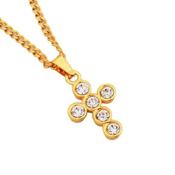 Shiny Gift Stylish New Arrival Jewelry Alloy Cross Rack Necklace [10819552579]