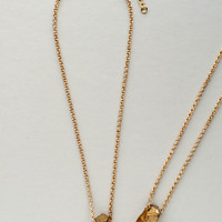 Golden Quartz Pendant Necklace
