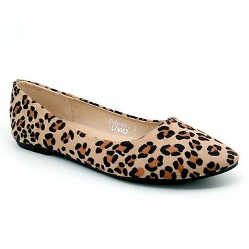 Women's Leopard Print Pointed Flats