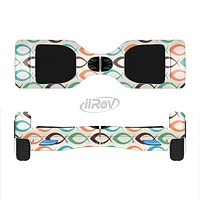 The Vintage Colored Vector Fish Icons Full-Body Skin Set for the Smart Drifting SuperCharged iiRov HoverBoard