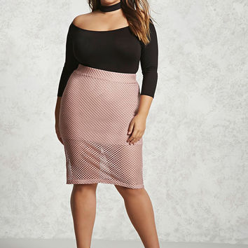 Plus Size Mesh Skirt
