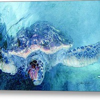 Sea Turtle Grand Cayman Canvas Print / Canvas Art By Ann Powell