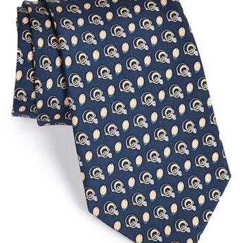Men's Vineyard Vines 'St. Louis Rams - NFL' Woven Silk Tie, Size Regular - Blue
