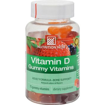 Nutrition Now Vitamin D Gummy Vitamins - 75 Gummies