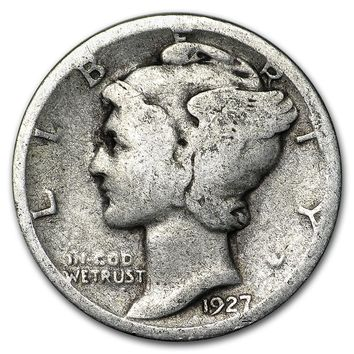 1927-S Mercury Dime Good/Fine