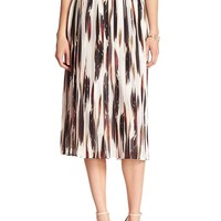 Banana Republic Womens Factory Pleated Midi Skirt