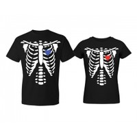 [Halloween★] Skeleton Couple T-Shirt (Price of One)