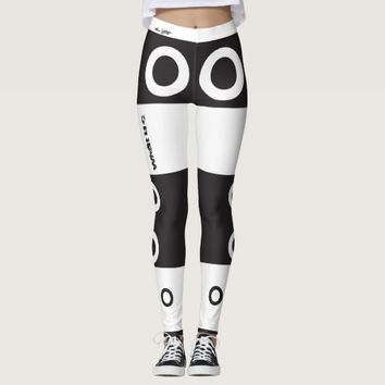 BLACK WHITE CIRCLE LEGGINGS HAVIC ACD
