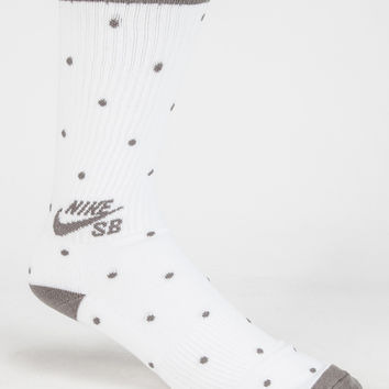 Nike Sb Dot Skate Mens Crew Socks White One Size For Men 26457015001