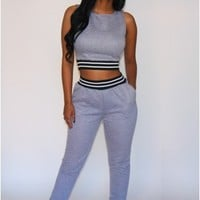 Quilted Jogger Set