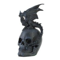 Gothic Dragon And Skull Statue from Jannie's LiveDeals