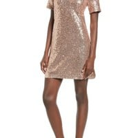 Soprano Sequin T-Shirt Dress | Nordstrom