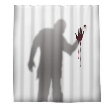 Bloody Hand Print Shower Curtain