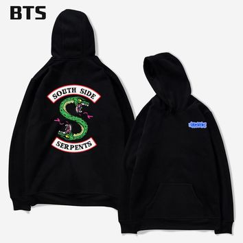 BTS Riverdale Harajuku Loose Hoodie Sweatshirt Men/Women Autumn Winter Fashion Tracksuit Sweatshirt Women Oversize Sweatshirt