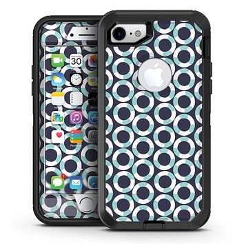 The All Over Teal and White Life Floats - iPhone 7 or 7 Plus OtterBox Defender Case Skin Decal Kit