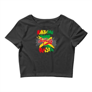 rasta nation, the reggae and dancehall Crop Top