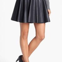 Vince Camuto Perforated Faux Leather Skater Miniskirt (Regular & Petite) | Nordstrom
