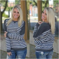 The Way It Goes Top (Grey) - Piace Boutique