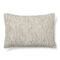 Threshold™ Chunky Knit Oblong Pillow Grey