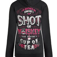 Zip Up Hoodie: Someone's Shot Of Whiskey