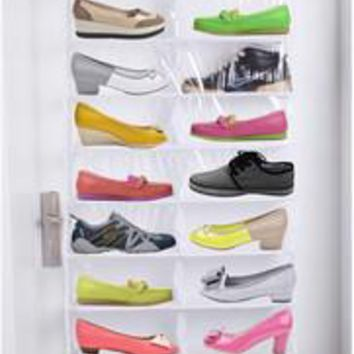 Lesort Over the Door Hanging Shoe Organizer Storage Holder Sorter For 26 Pairs Shoes R
