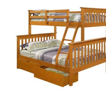 Alaina Twin over Full Bunk Bed with Storage