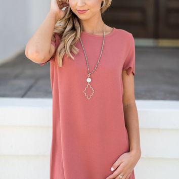 Love This Feeling Dress, Dusty Rose