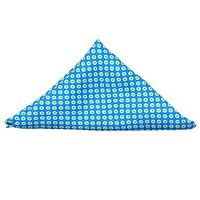 Pocket Square in Turquoise with Lime Dots by Collared Greens