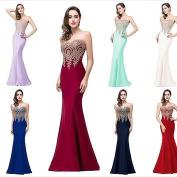 Long Formal Fitted Dress Homecoming Prom Evening Gown