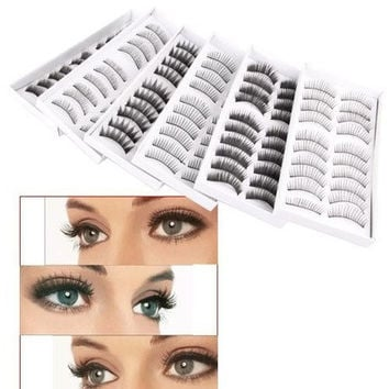 60 Pair Assorted False Eyelashes Eyelash Makeup Party [8833420940]