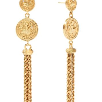 Coin Tassel Earrings