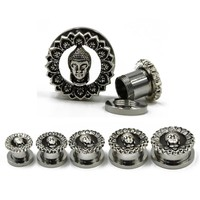 Antique Silver Buddha Gauges