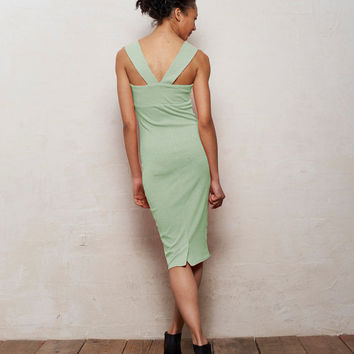 Mae Strappy Bodycon Midi Dress in Pastel Mint Green