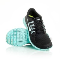 Nike Free 5.0+ - Womens Running Shoes - Black/Teal