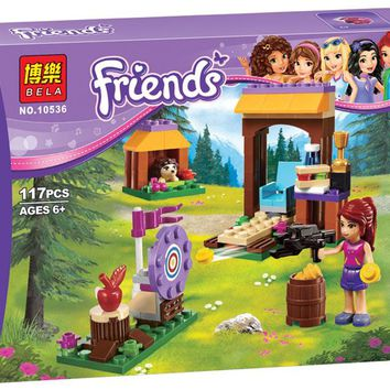 Adventure Camp Archery 117pcs Friends Set Emma Stephanie Mia Olivia Building Block Toy Girls 41120 Compatible With Lego