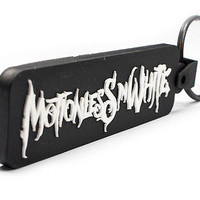 MOTIONLESS IN WHITE Rubber Keychain Keyring Key Chain Key Ring